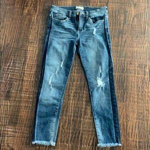 NWOT Altar'd State dark blue jean with navy stripe